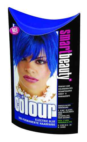 Smart Color Smartbeauty Semi Permanent Haarfarbe Electric Blue, 1er Pack (1 x 35 g)