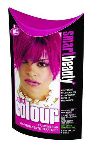 Smart Color Smartbeauty Semi Permanent Haarfarbe Carmine Pink, 1er Pack (1 x 35 g)