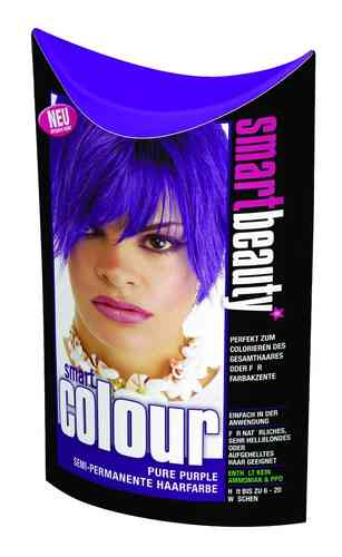 Smart Color Smartbeauty Semi Permanent Haarfarbe Pure Purple, 1er Pack (1 x 35 g)